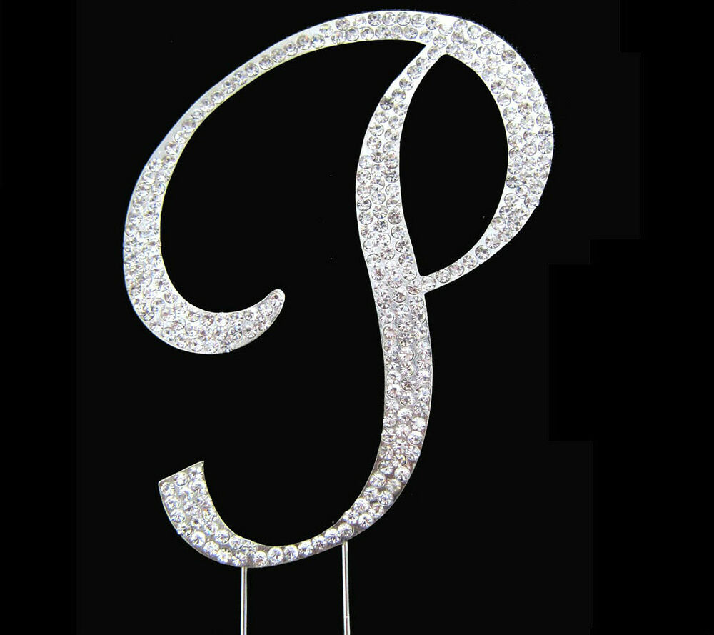 crystal letter wedding cake toppers large rhinestone monogram letter p wedding cake 13111