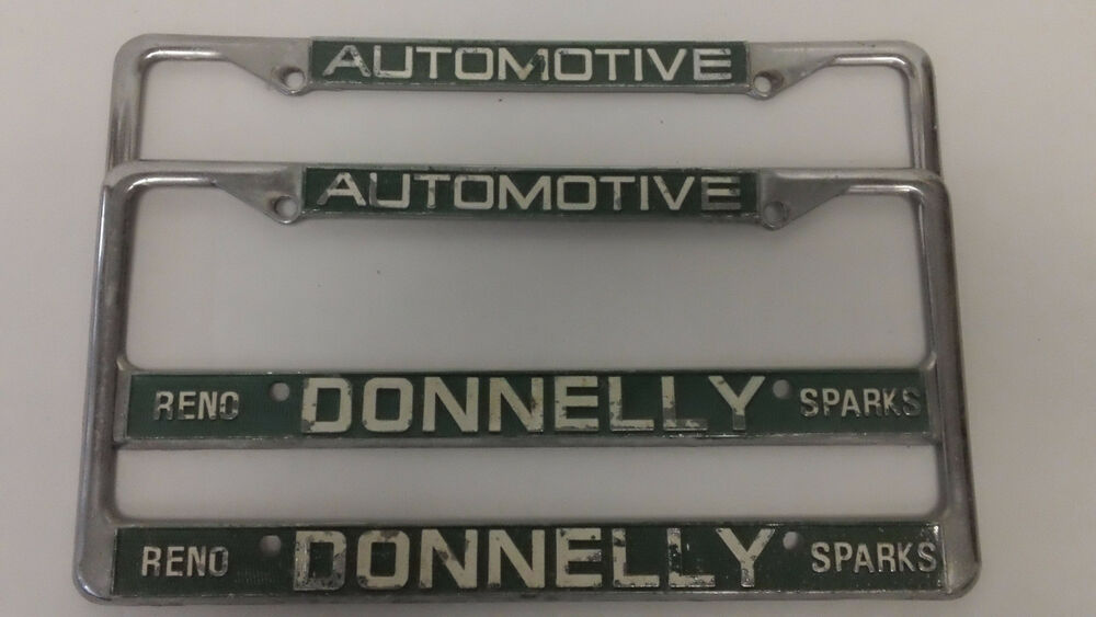 Donnelly Reno Nevada Sparks License Plate Frames Set Pair