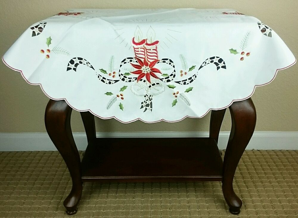 Round Christmas Table Cloth