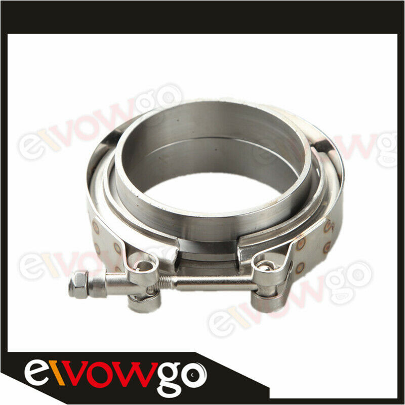 Turbo Exhaust Ring: 2.75'' V-Band Flange & Clamp Kit For Turbo Exhaust