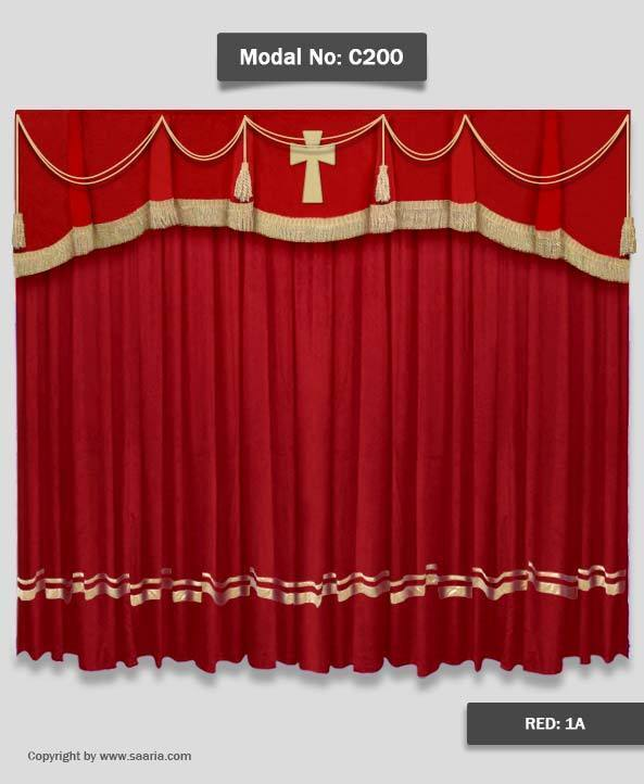 Saaria Church Velvet Stage Curtains Event Theater Backdrop