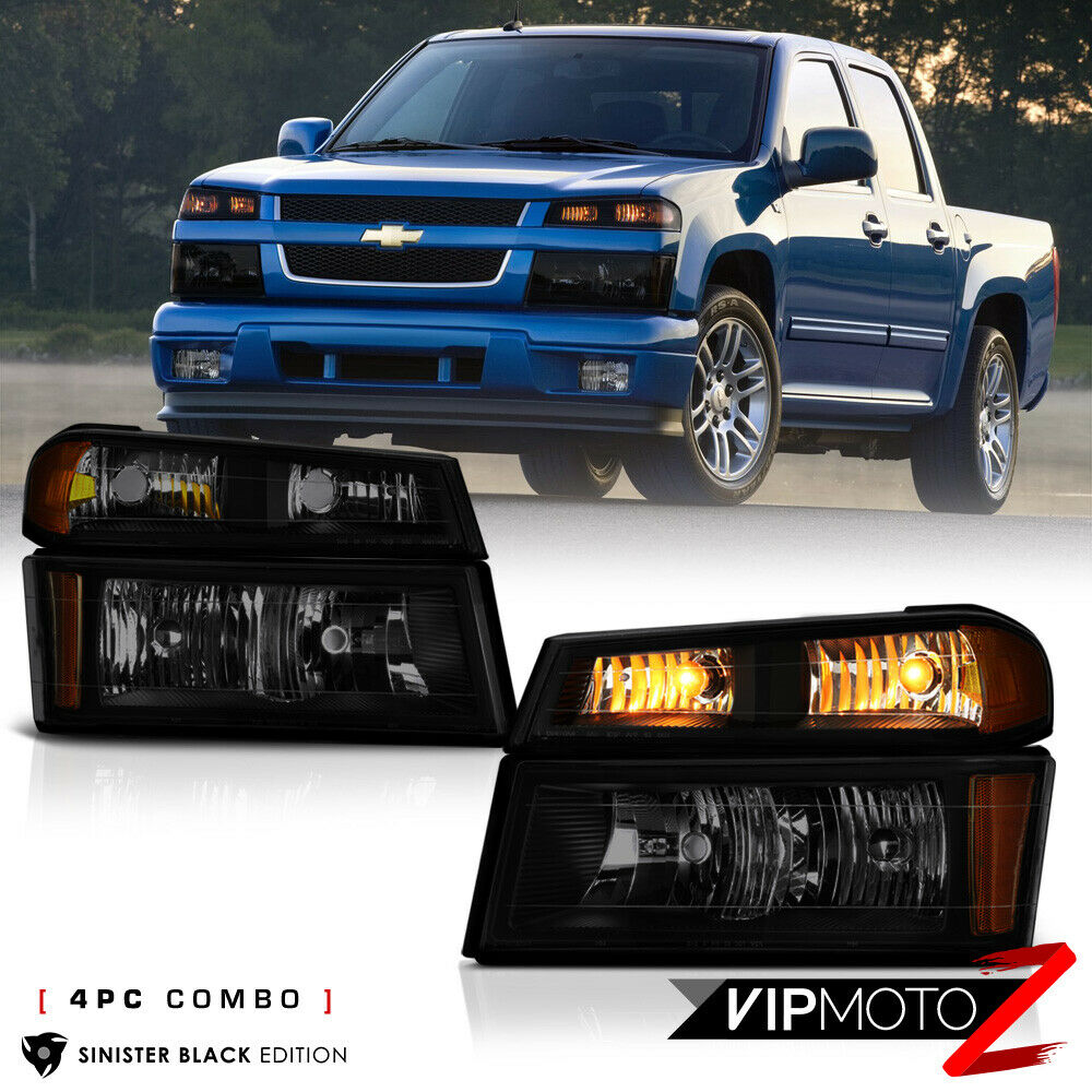 sinister black 2004 2012 chevy colorado bumper signal. Black Bedroom Furniture Sets. Home Design Ideas