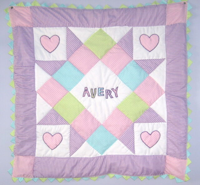 Personalized Baby Girl Quilt Kit With Pattern Lavender