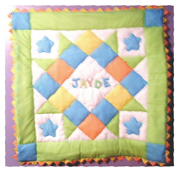 personalized baby boy pre cut quilt kit w pattern sewing 87264