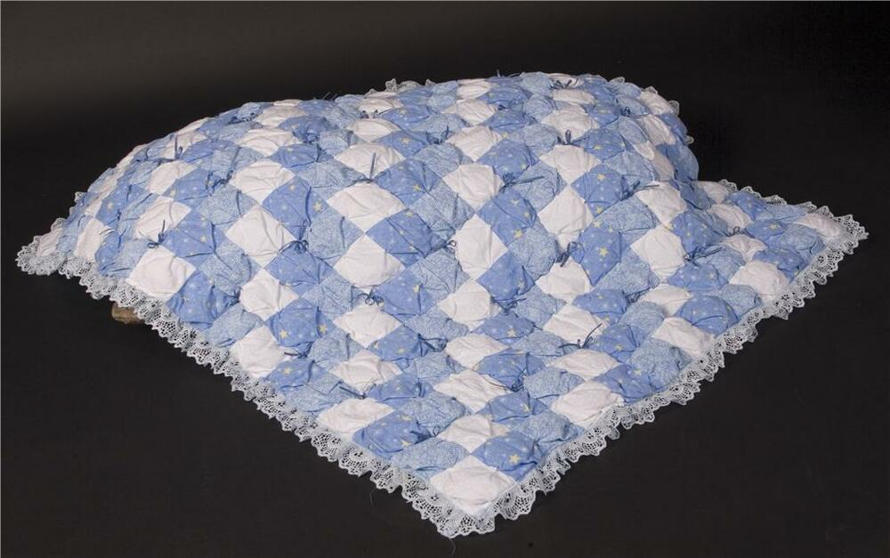 Free Pattern For Baby Puff Quilt : Blue Puff / Biscuit Baby Boy Quilt Pattern eBay