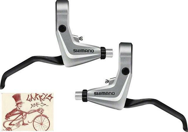 shimano alivio t4000 linear v brake silver bicycle brake levers 1 pair ebay. Black Bedroom Furniture Sets. Home Design Ideas