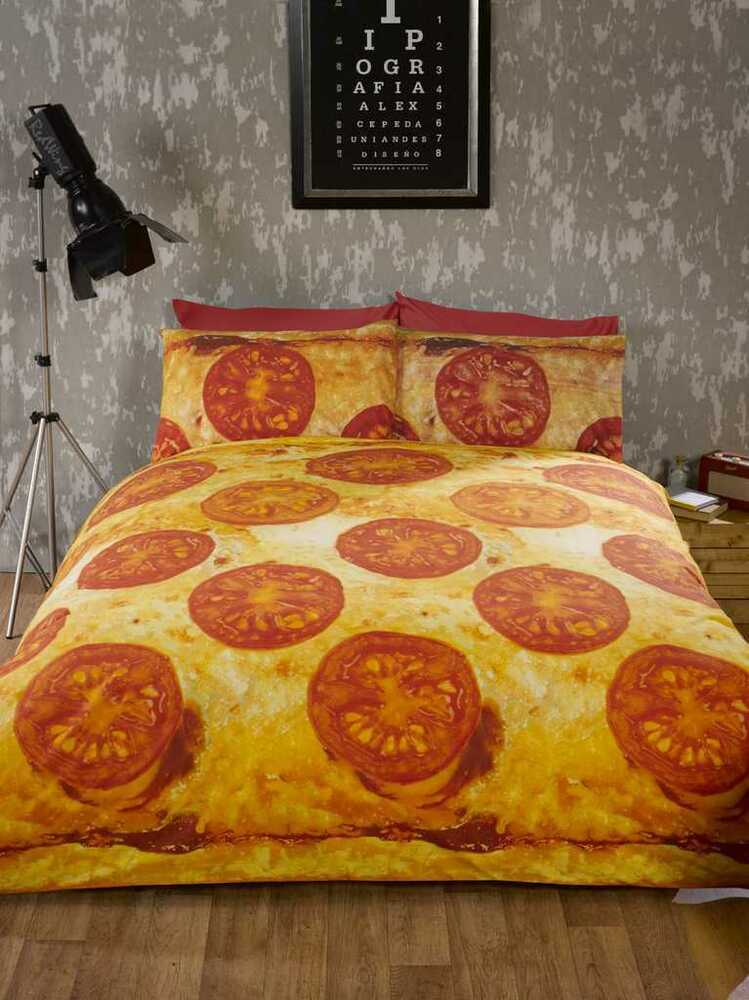 Pizza photographic take away packed duvet quilt cover for Style my bedroom