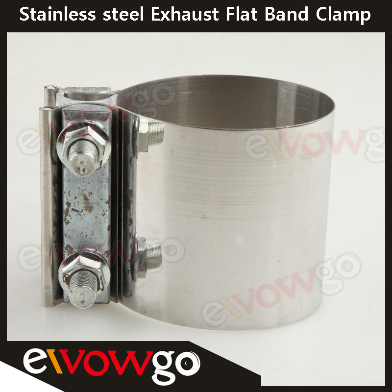 Quot stainless steel inch exhaust flat band clamp ebay
