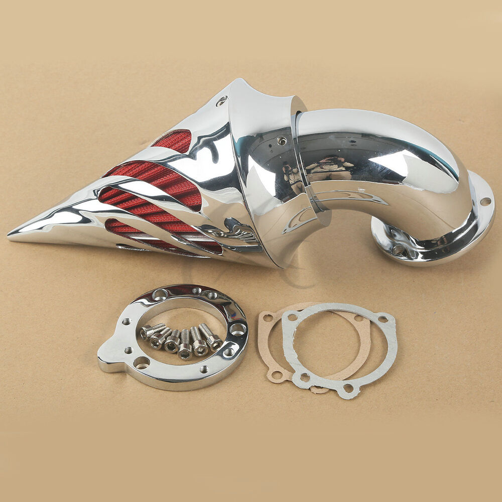 Custom Motorcycle Air Cleaners : Spike air cleaner intake filter for harley davidson s