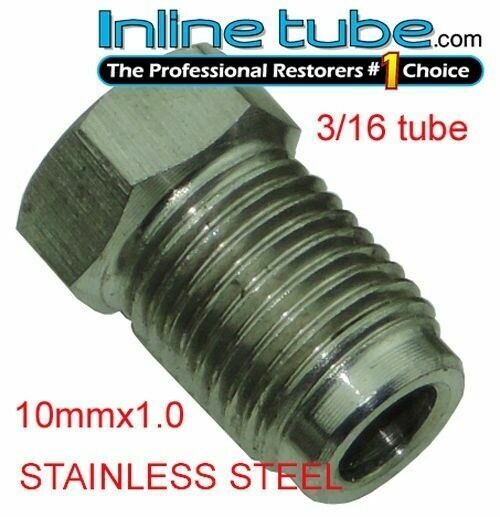 Stainless Steel Brake Line Nuts : Mm iso bubble flare stainless tube nut fitting