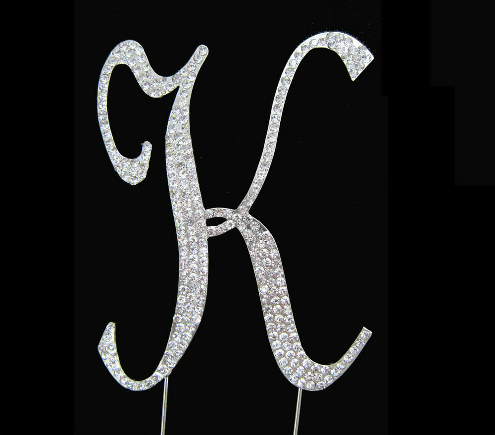 crystal letter wedding cake toppers large rhinestone monogram letter k wedding cake 13111