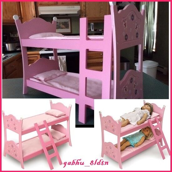 Doll Bunk Beds Pink 18 Quot Dolls Wooden American Girl