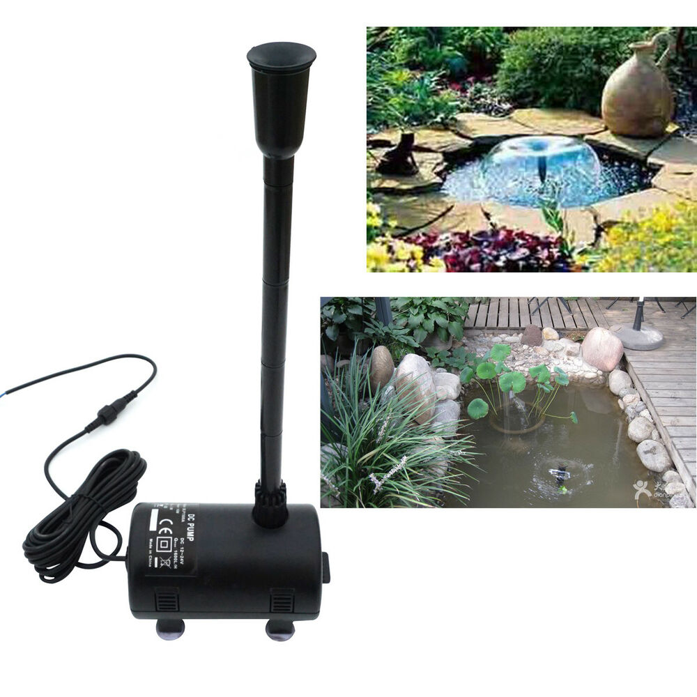 Solar power submersible fountain pump garden decor pond for Solar water pump pond