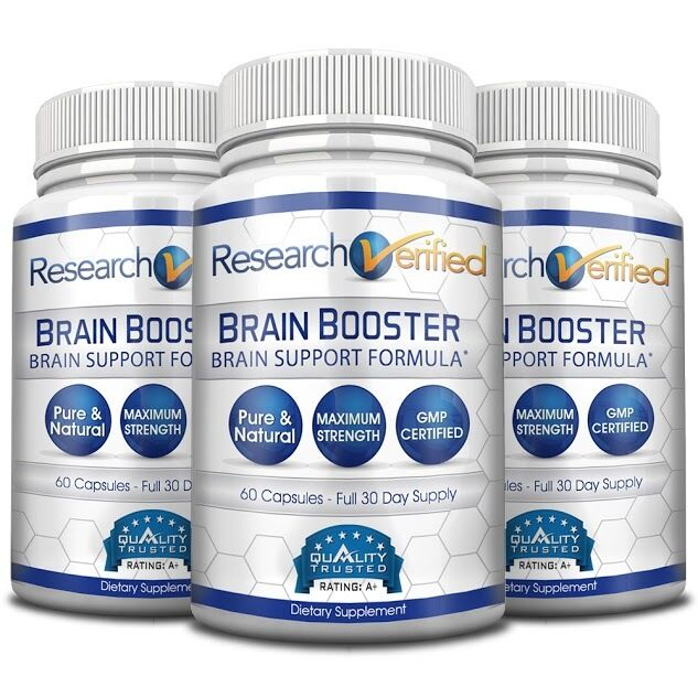 Research Verified Brain Booster Brain Supplement Nootropic 3