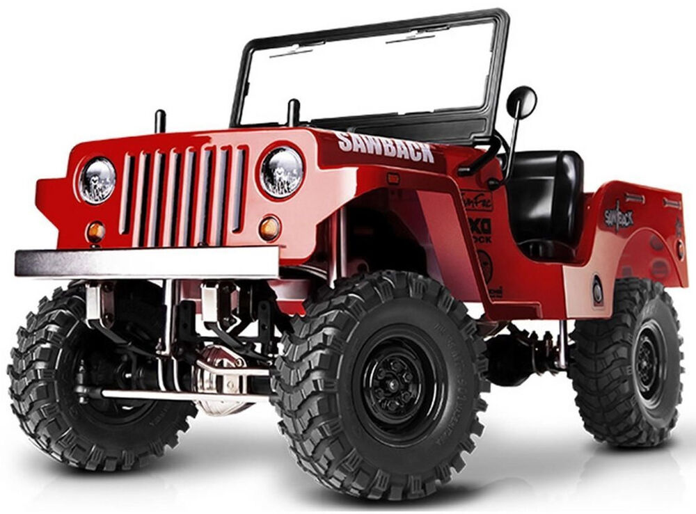 rc truck body shell 1 10 sawback crawler jeep wrangler willys jeep painted red ebay. Black Bedroom Furniture Sets. Home Design Ideas