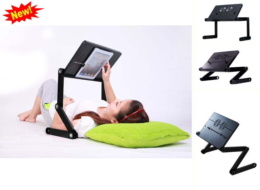 Notebook Computer Stand Ipad Adjustable Vented Laid Back