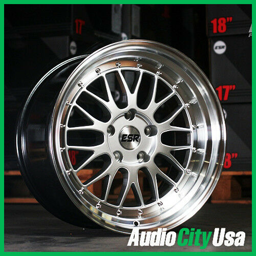 17x9 5 Esr Sr05 Wheel Hyper Silver 5 120 20 Fit Bmw Ebay