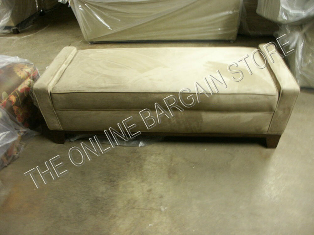 Pottery Barn Evan end Bed Bench Ottoman Chair Entry Wheat ...