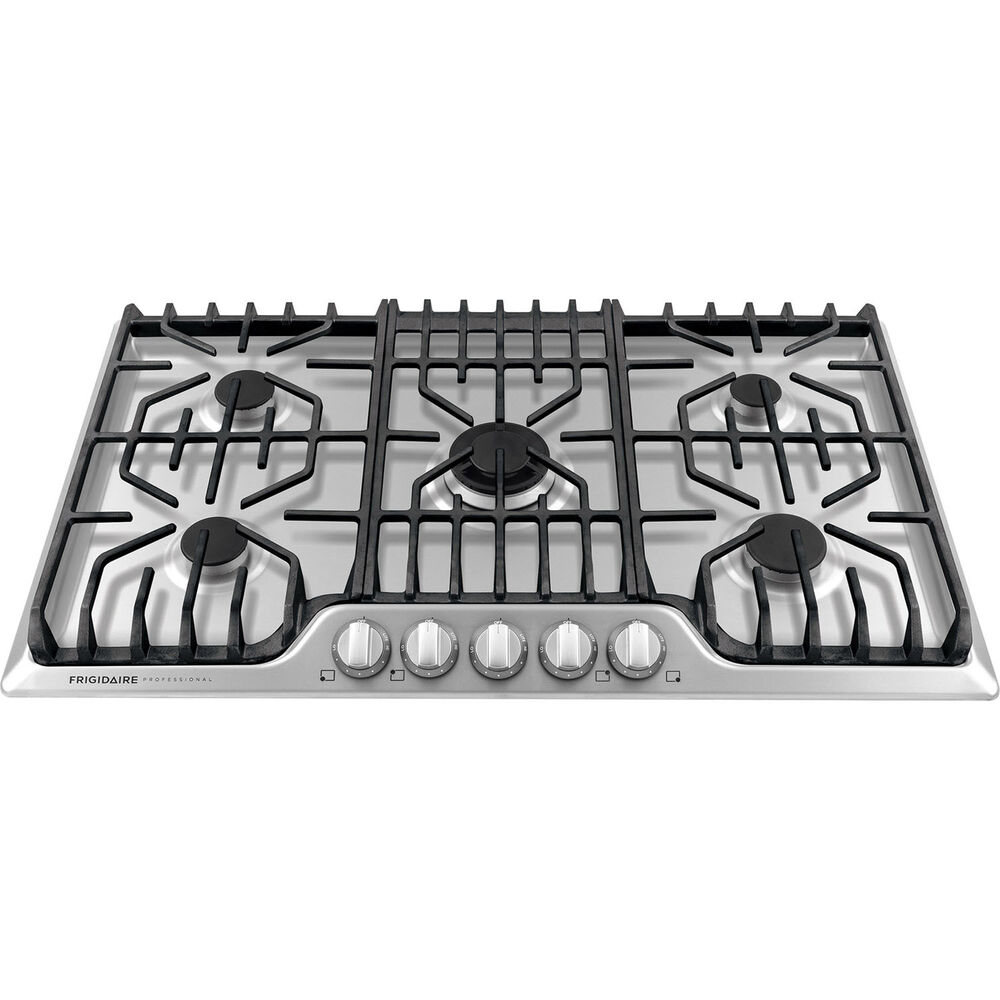 "5 Burner Gas Cooktops: Frigidaire PRO 5 Burner Stainless Steel 36"" Gas Cooktop"