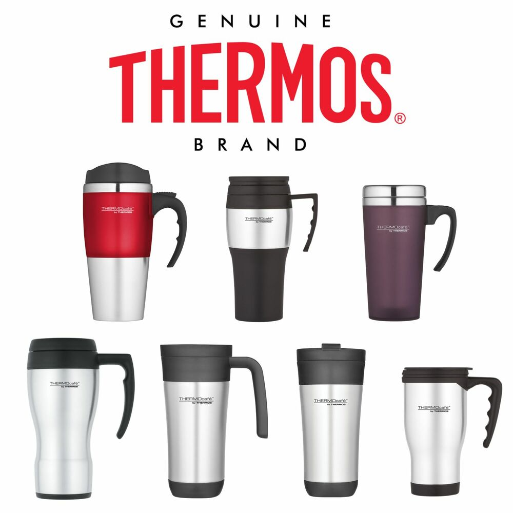THERMOS TRAVEL MUG 400ml MULTI COLOUR Non-Spill Insulated ...