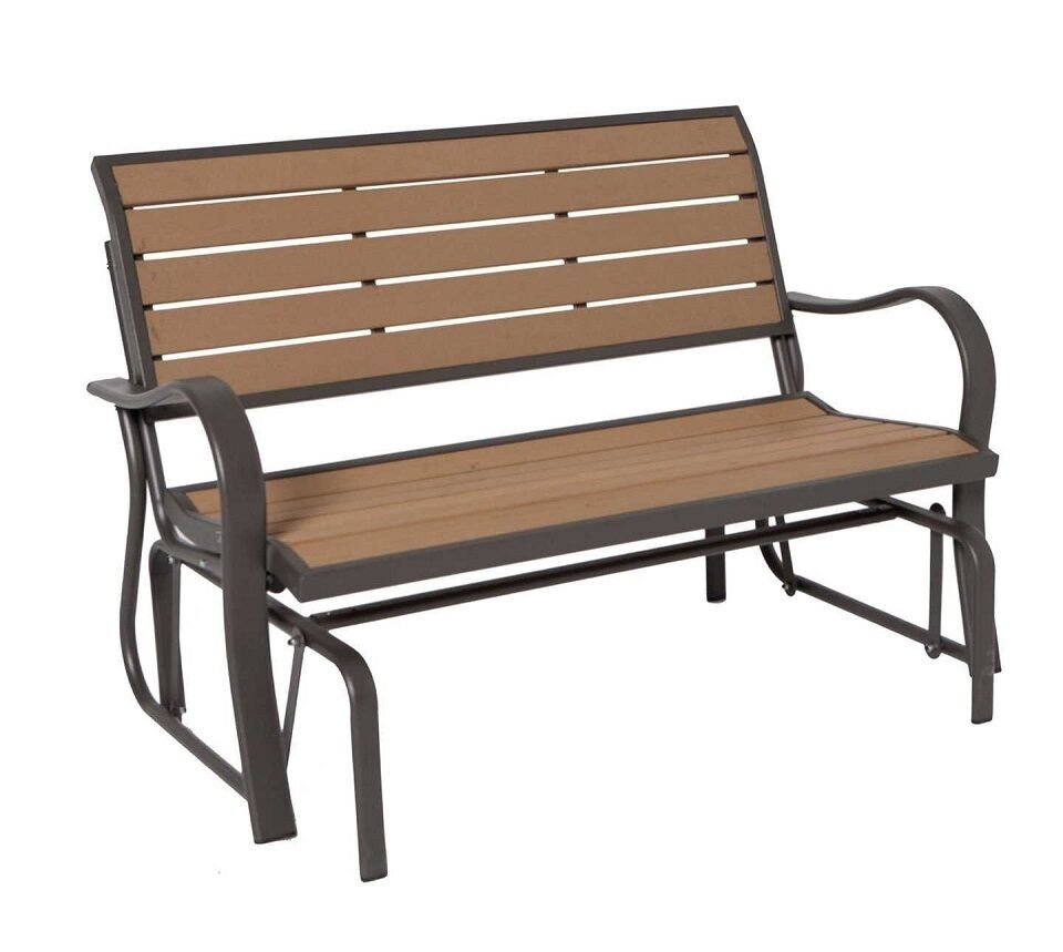 Outdoor Glider Bench Lifetime 60055 4 Feet Faux Wood Patio Free Shipping New Ebay