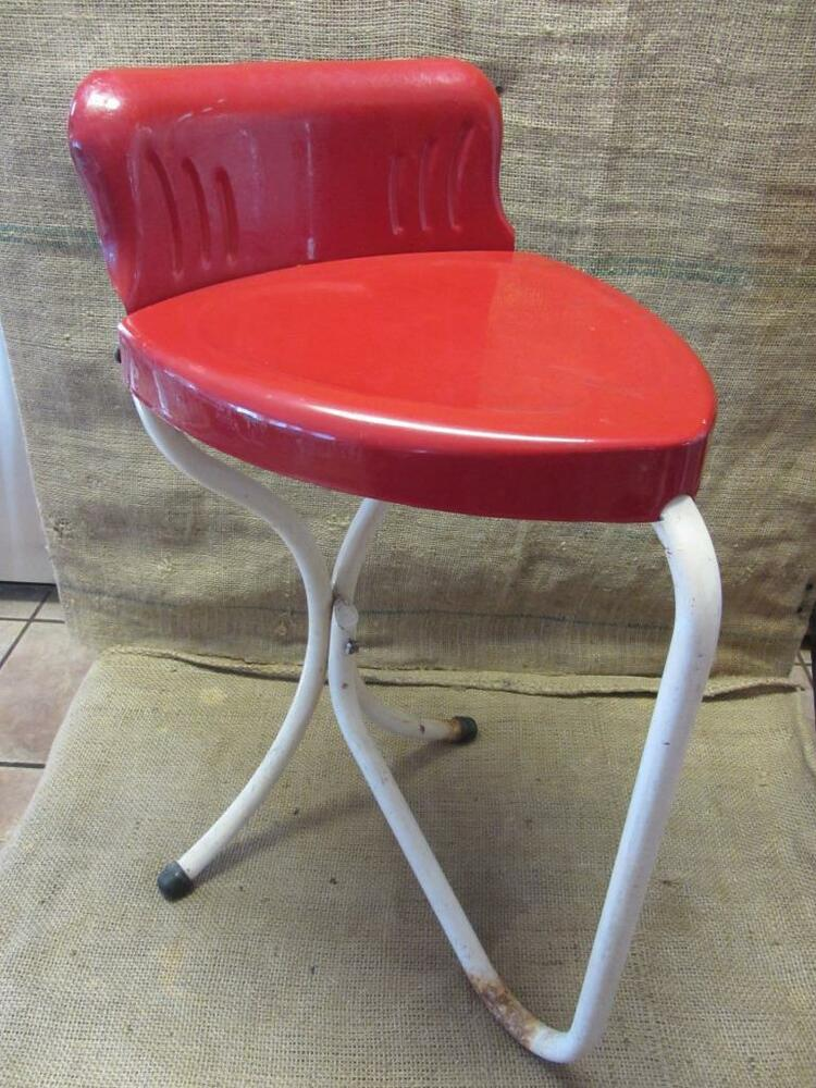 Vintage Metal Heart Shaped Chair Antique Old Stool Rare