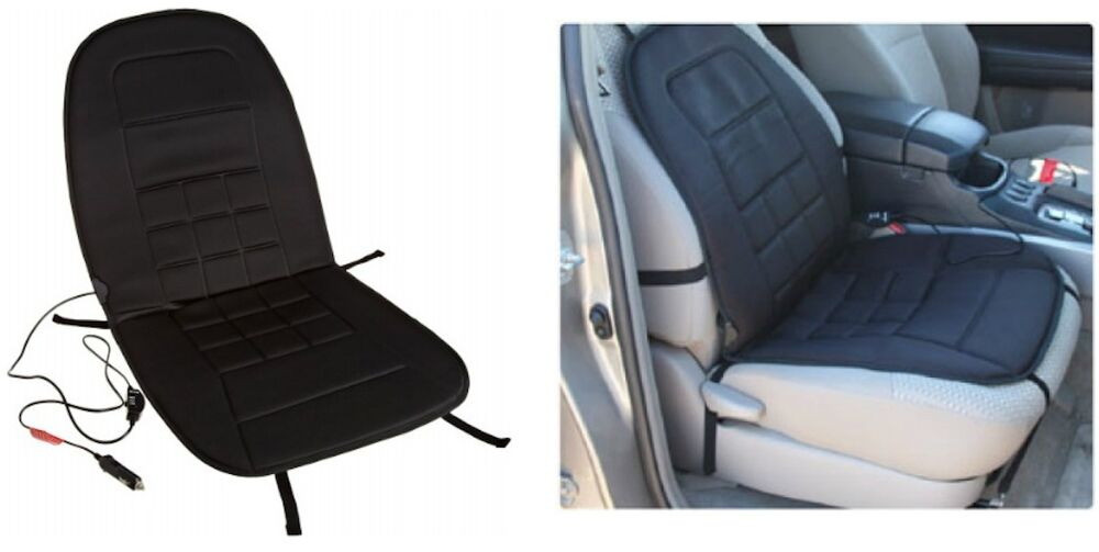 12 Volt Black Heated Seat Cushion 3 Way Temperature