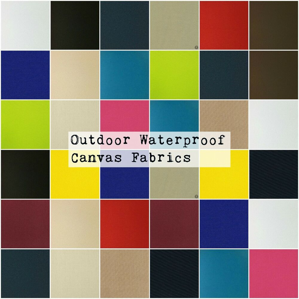 Discount outdoor fabric by the yard - Solid Canvas Waterproof Uv Protected Outdoor Fabric Pro Tuff Colors Sold Bty