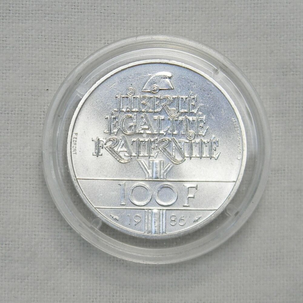 France 1986 Silver Piedfort Issue Quot Liberty Quot 100 Francs Only 5000 Minted Bu Ebay