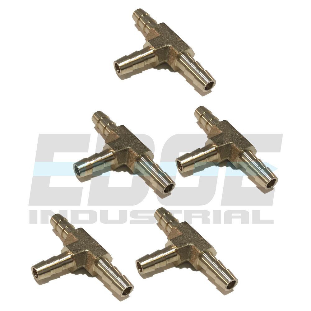 Pieces hose barb tee brass pipe way t fitting