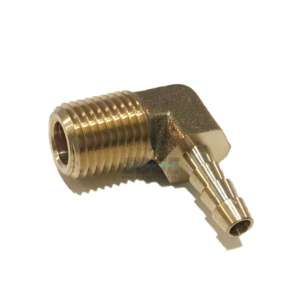 Hose barb elbow male npt brass pipe fitting