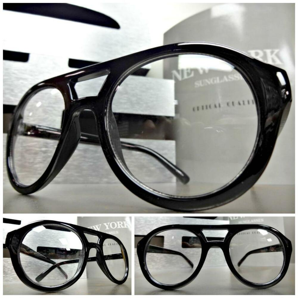 s vintage retro style clear lens eye glasses