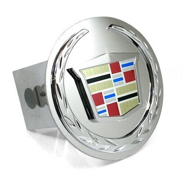 "Cadillac Accessories Catalog: Cadillac Chrome Emblem Logo 2"" Trailer Tow Hitch Plug Cover New Free Shipping"