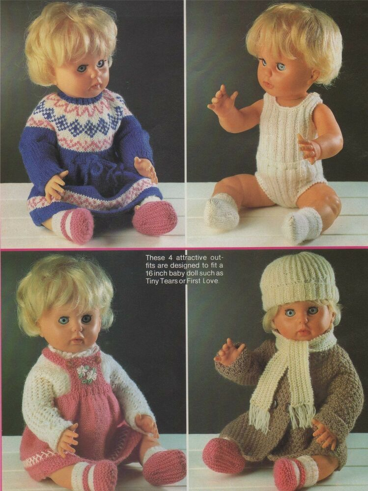 Free Knitting Patterns For 16 Inch Dolls Clothes
