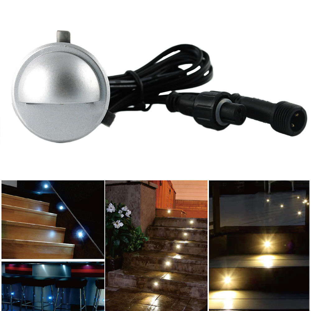 Waterproof 12v 0 4w Hallway Wall Stair Recessed Half Moon