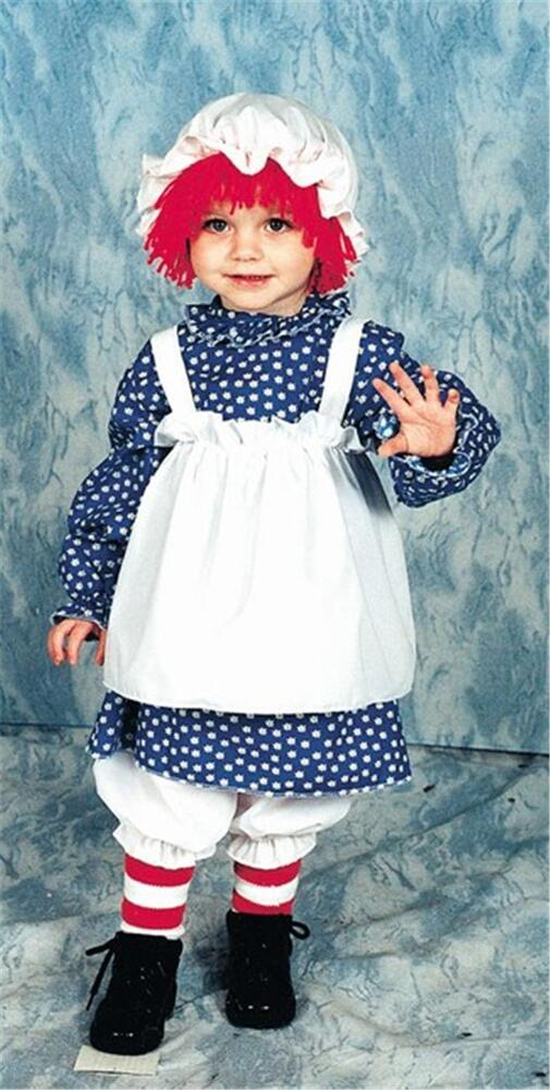 Toddlers Mouse Costume: GIRLS TODDLERS RAG RAGGEDY ANN DOLL COSTUME 12112 14 17
