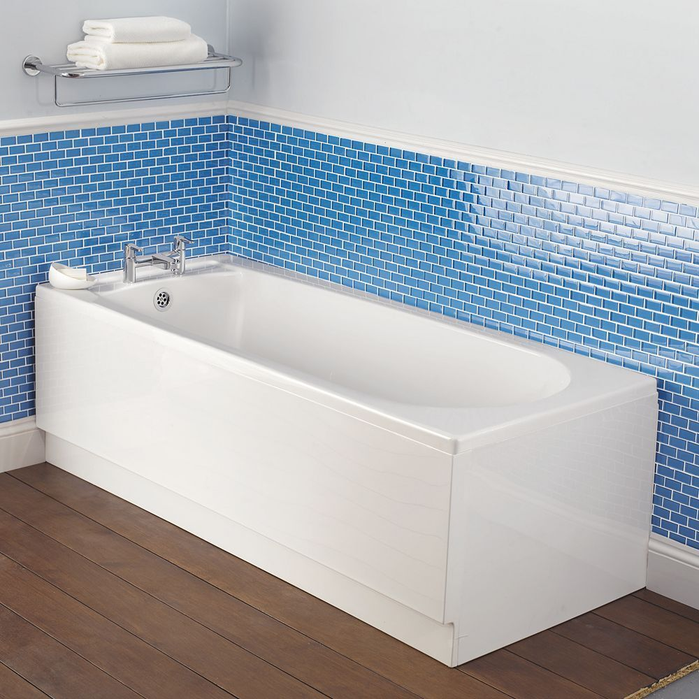Bathroom Plastic Panels: Bathroom White Acrylic Front Bath Panel 1700mm X 510mm Can