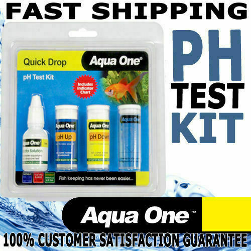 Aqua one quick drop aquarium fish tank water ph test kit 6 for How to lower ph in fish tank