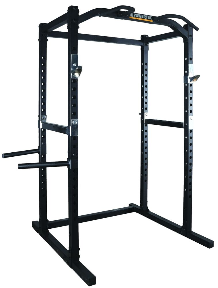 Powertec Power Rack Wb Pr16 Squat Cage Bench Press Home Gym Fitness Ebay