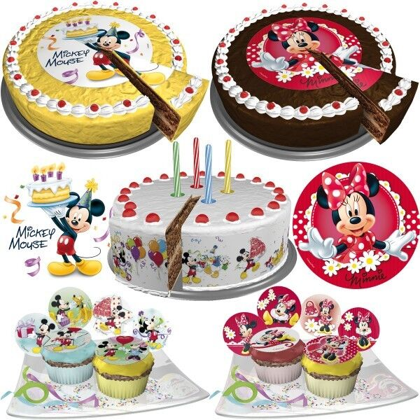 disney micky maus minnie maus mouse tortendeko kuchen deko muffin party backen ebay. Black Bedroom Furniture Sets. Home Design Ideas