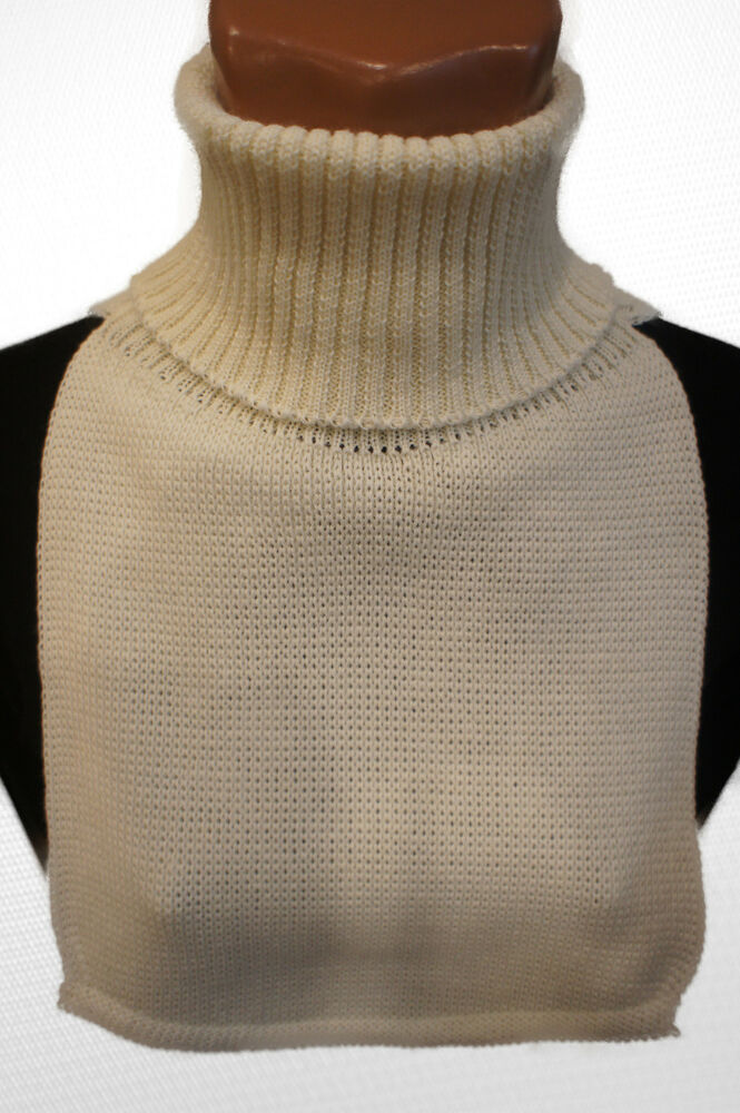 Dicky Warm Scarf Turtle Neck Dickey Knit Home Made Wool