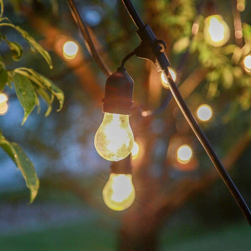 Outdoor String Lights Mains: Vintage Retro Style LED Outdoor Festoon Party Lights Fairy