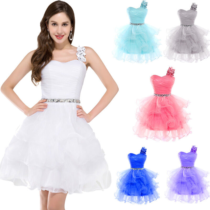 Tutu Girl Teens Short Homecoming Gown Formal Evening Party