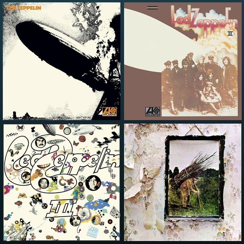 Led Zeppelin Albums Bundle I Ii Iii Iv
