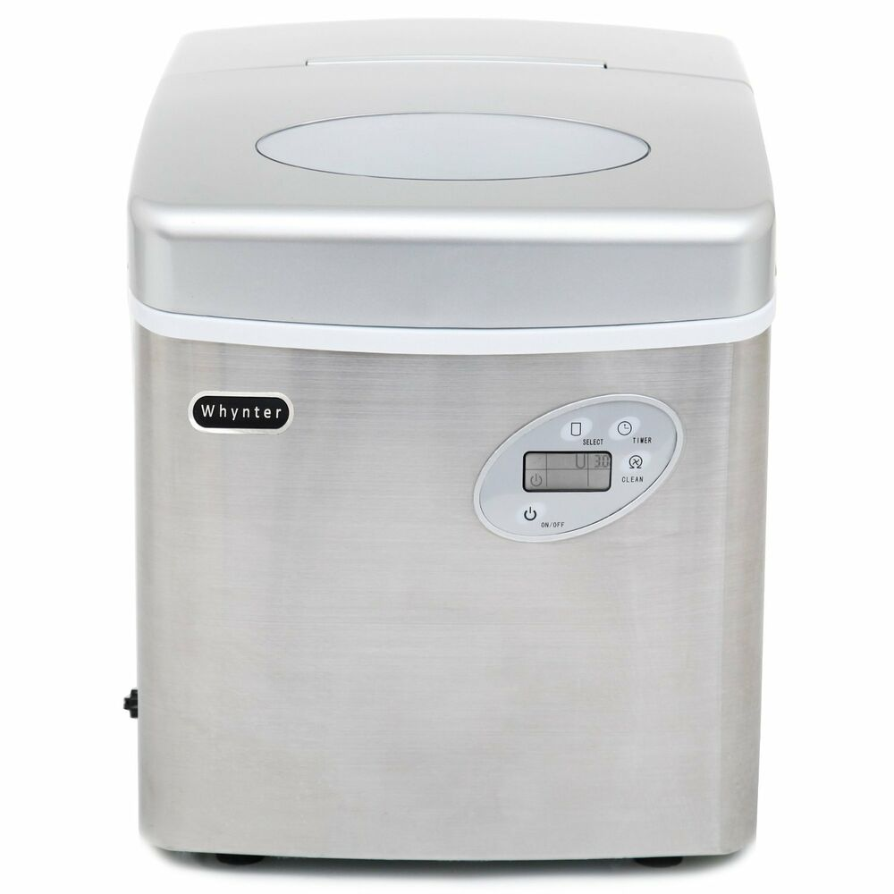 Large Capacity Countertop Ice Maker : Whynter Portable Ice Maker 49 Lb Capacity - Stainless Steel IMC-490SS ...