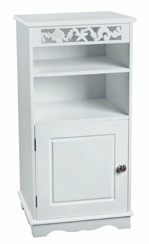 Bathroom Wooden Storage Cabinet White Floor Standing Cabinet Br105 Ebay