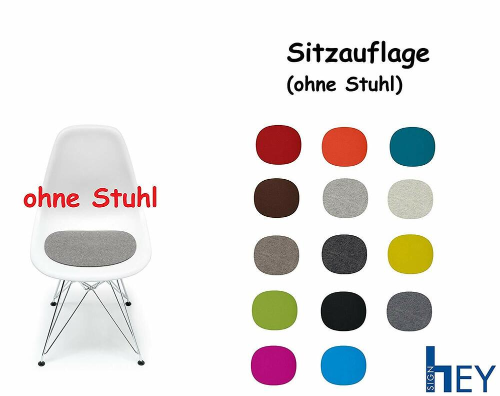 hey sign sitzauflage sitzkissen filz f r vitra stuhl eames plastic side chair ebay. Black Bedroom Furniture Sets. Home Design Ideas