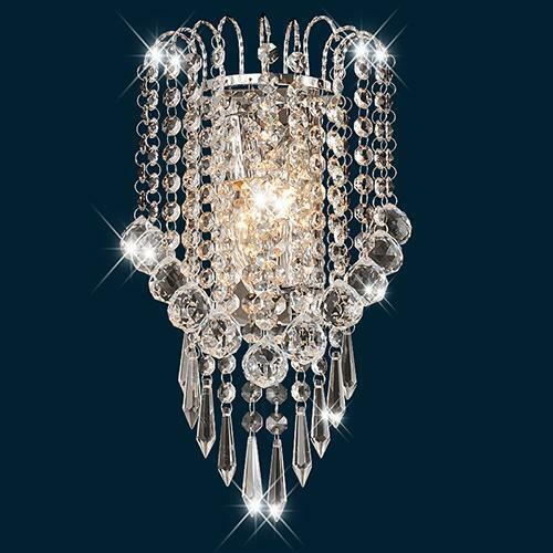 Modern 2 Light Crystal Wall Sconce Pendant Lamp Bathroom Fixture Vanity Lighting Ebay