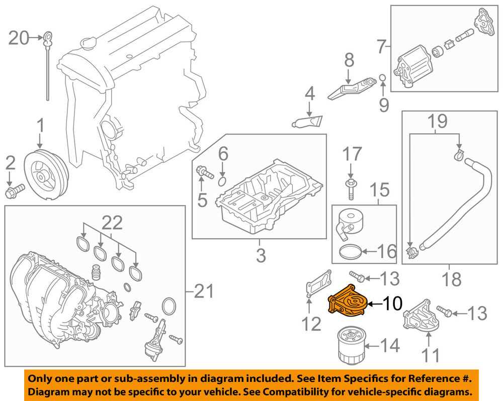 Cx 7 Engine Diagram Mazda Oem 10 12 Oil Filter Housing L31114311a Ebay