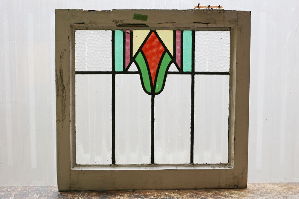 Antique stained glass window five 5 colors arts n crafts for Window glass design 5 serial number